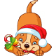 Dog with Christmas Candy - GraphicRiver Item for Sale