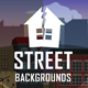 Parallax Street 2D Backgrounds