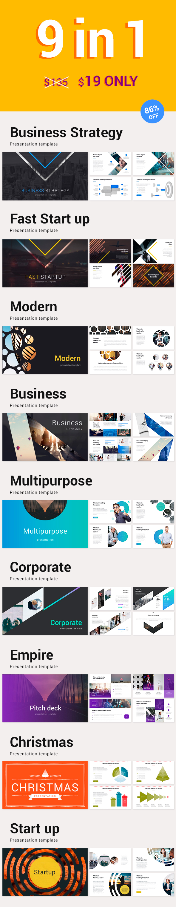 9 in 1 Powerpoint Bundle Off - Business PowerPoint Templates
