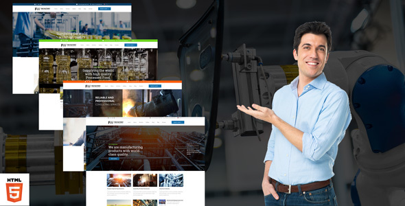 Image of Manufacturing - Factory & Industrial Business HTML Template