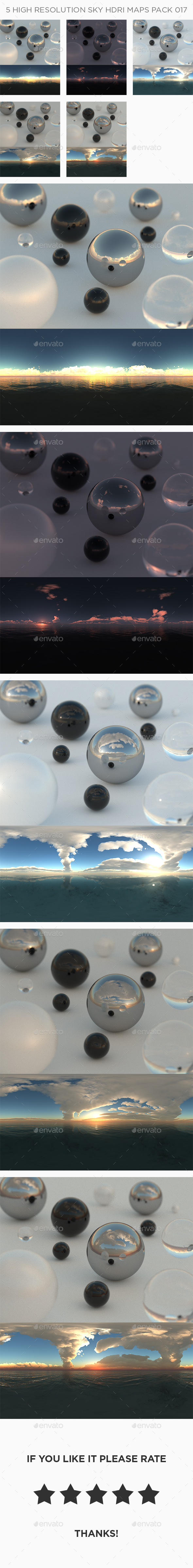 3DOcean 5 High Resolution Sky HDRi Maps Pack 017 21155490