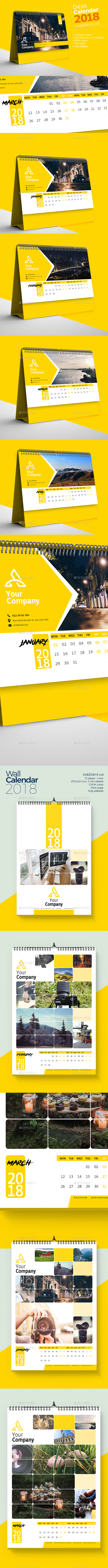 Calendar 2018 V1 Bundle - Calendars Stationery