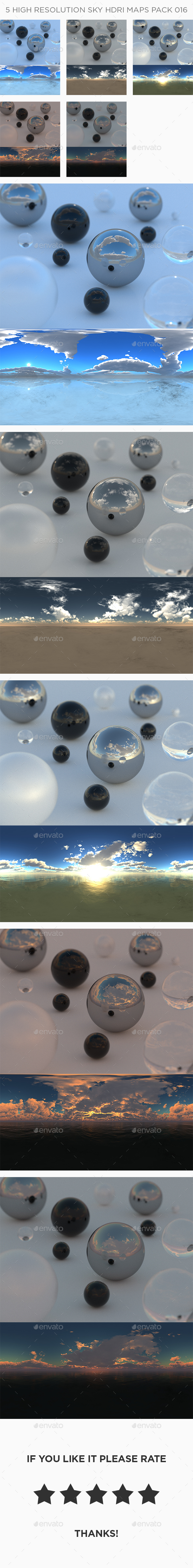 3DOcean 5 High Resolution Sky HDRi Maps Pack 016 21155536