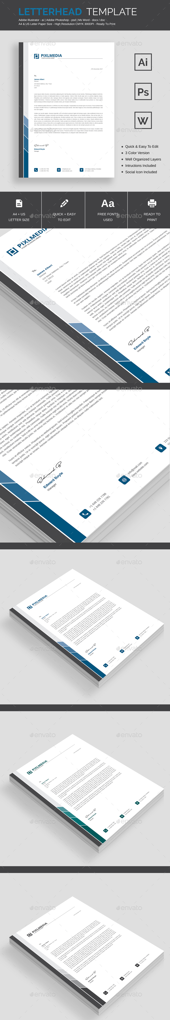 GraphicRiver Letterhead Template 21150078