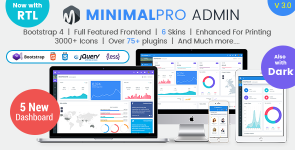 Image of Minimal Pro - Responsive Bootstrap 4 Admin Dashboard Template & WebApp Template