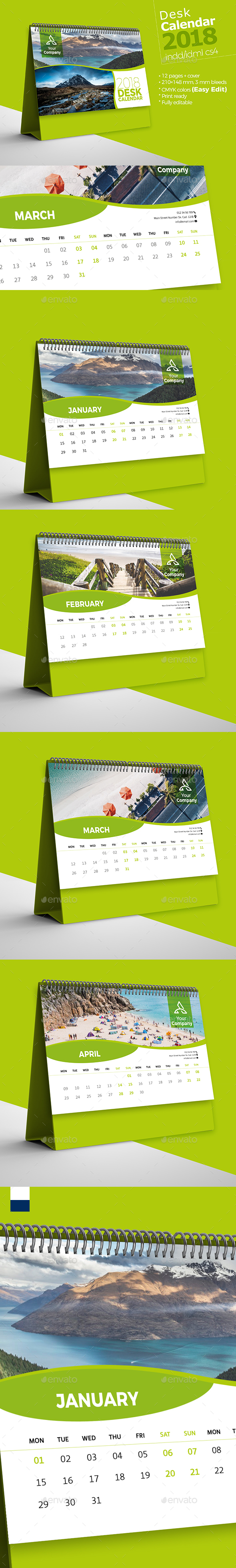 GraphicRiver Desk Calendar 2018 21155712