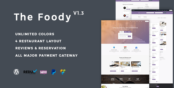 Thefoody - Multivendor Multiple Restaurant WordPress Theme - Restaurants & Cafes Entertainment