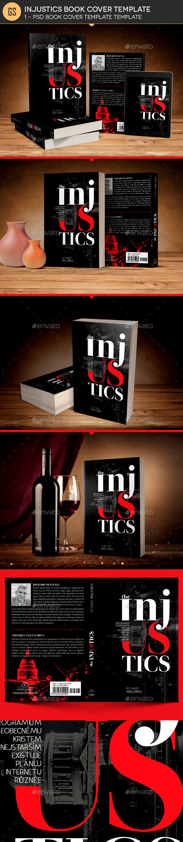 GraphicRiver Injustics Book Cover Photoshop Template 21155737