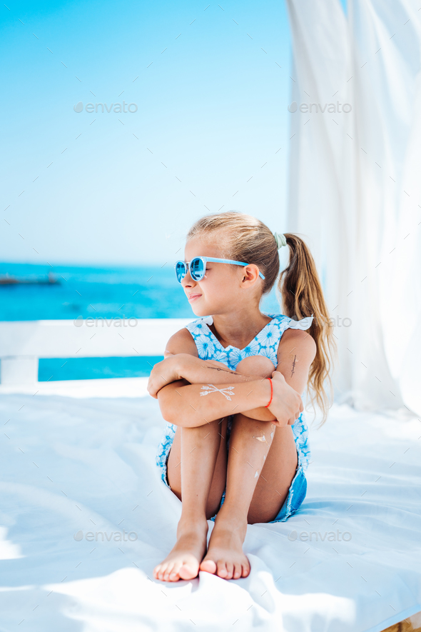 Little girl on vacation - Stock Photo - Images