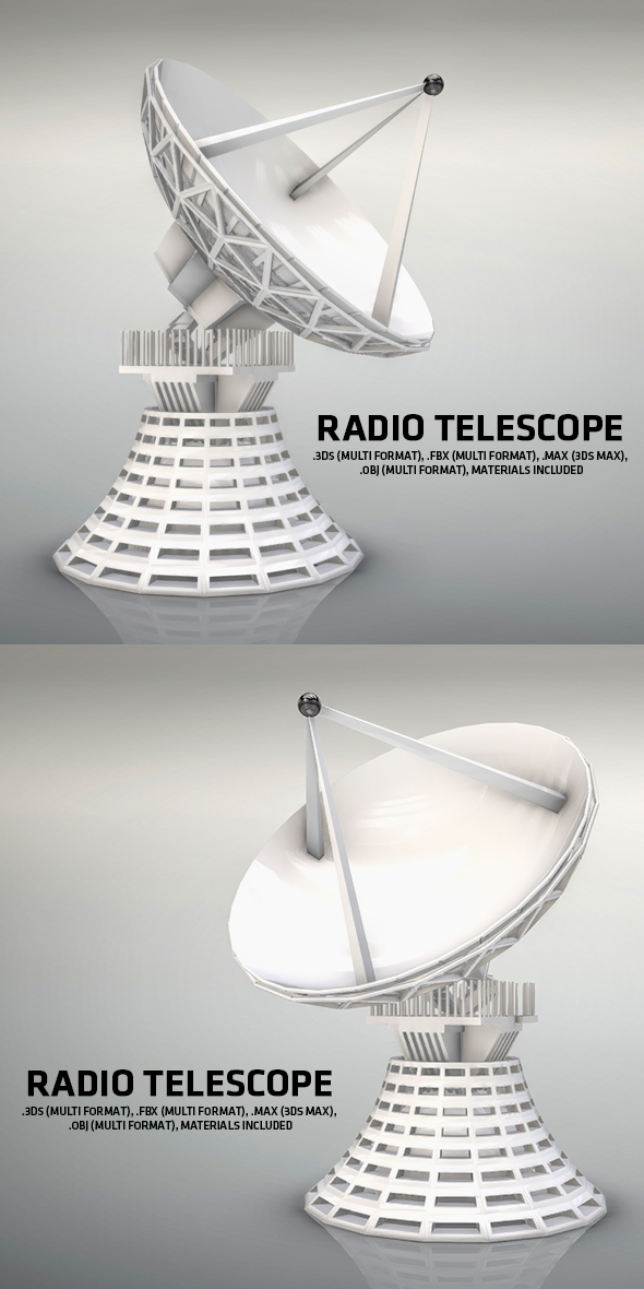 Radio Telescope - 3DOcean Item for Sale