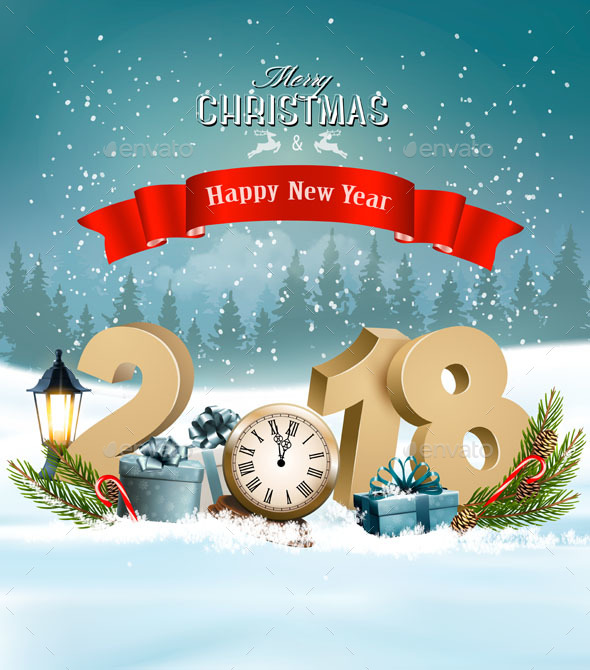 happy new year 2018 graphics designs templates