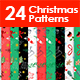 24 Seamless Christmas Patterns