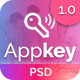 Appkey - App Landing PSD Template - ThemeForest Item for Sale