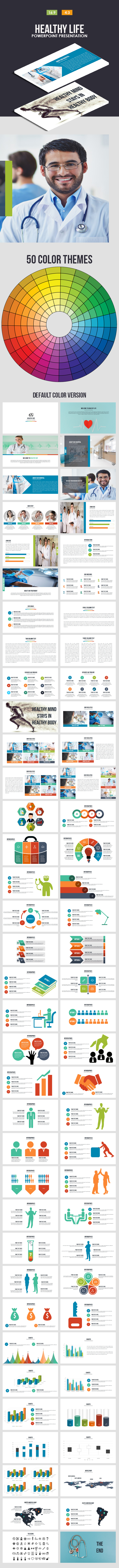 Healthy Life Powerpoint Presentation - Business PowerPoint Templates