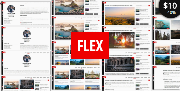 ThemeForest Flex Personal Resume Blog Portfolio Template 21156452