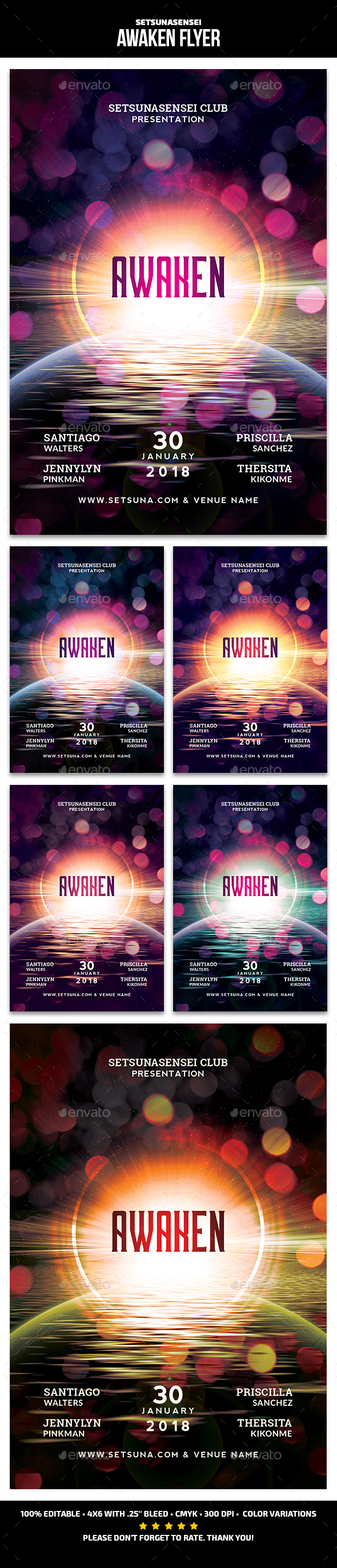 GraphicRiver Awaken Flyer 21156616