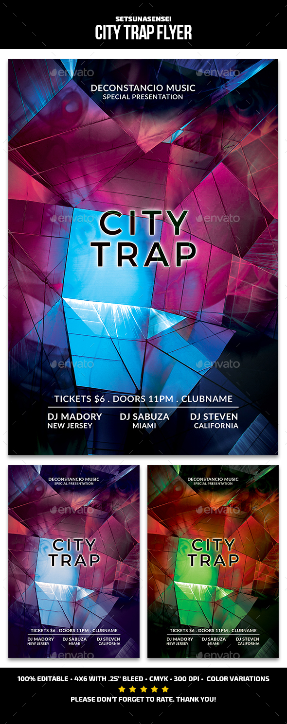 GraphicRiver City Trap Flyer 21156636