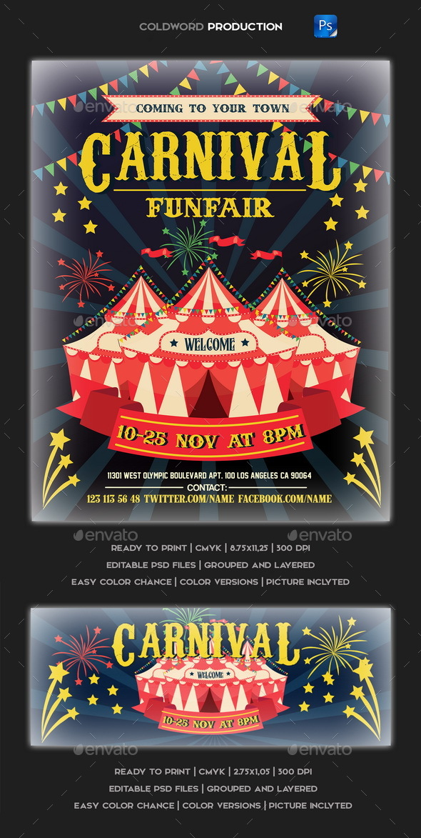 GraphicRiver Carnival Flyer 21156698