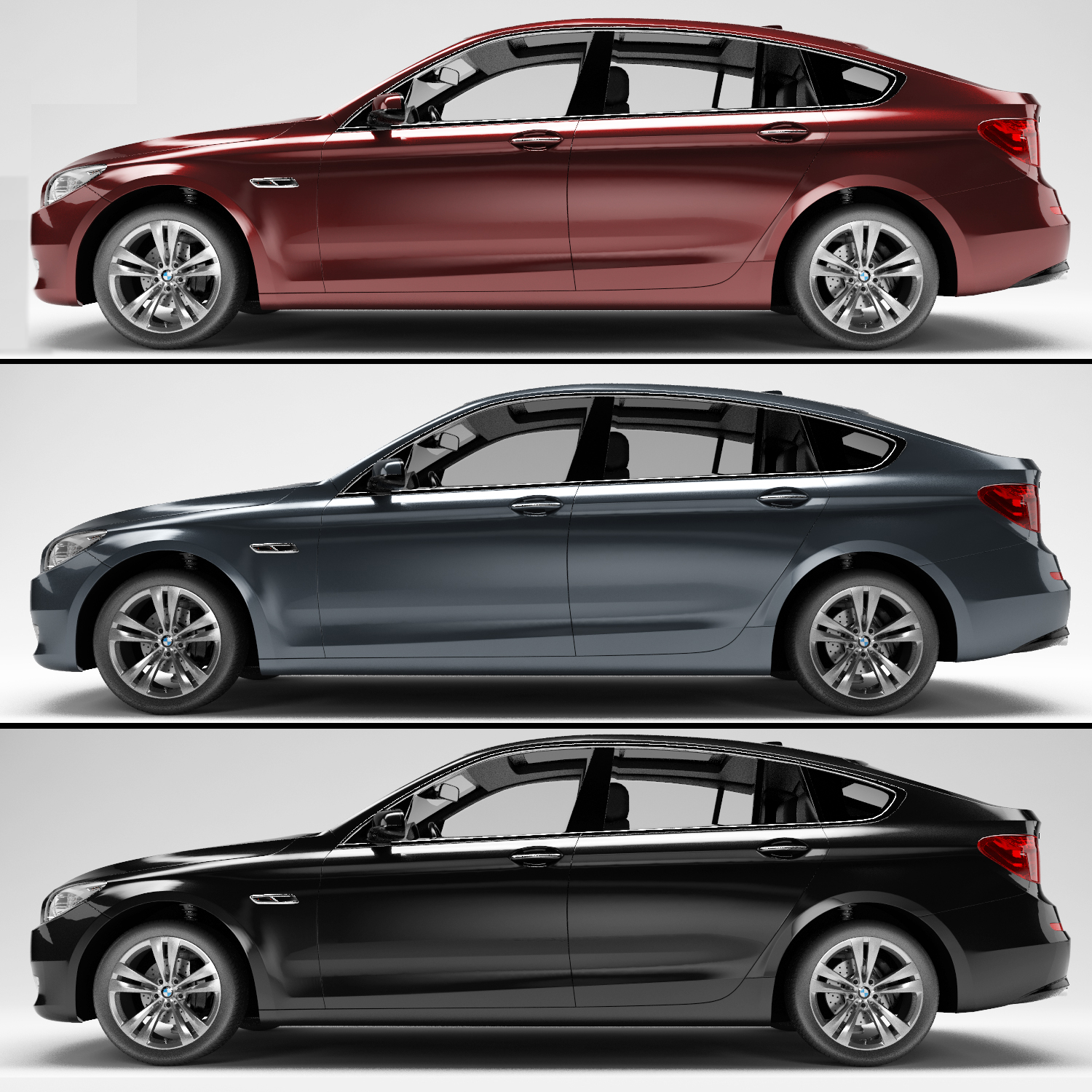 4 Series Vs 6 Series Concept: BMW 5 Series (6 Colors) By ContinentCGS