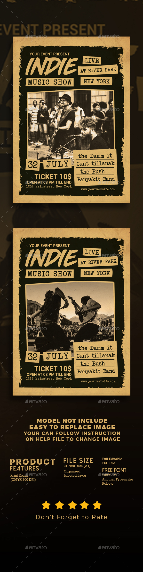 GraphicRiver Indie Music Show Flyer 21150635