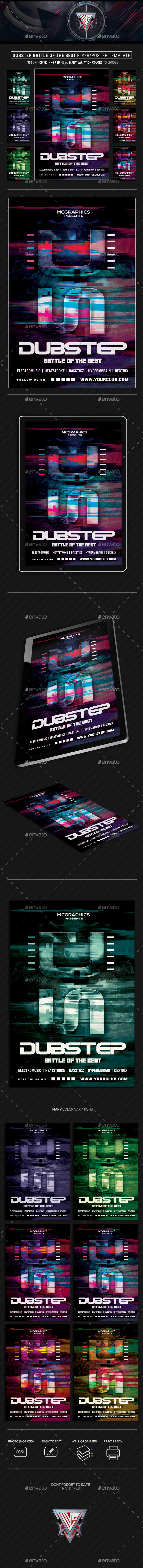 GraphicRiver Dubstep Best of the Best Flyer Poster Template 21156773