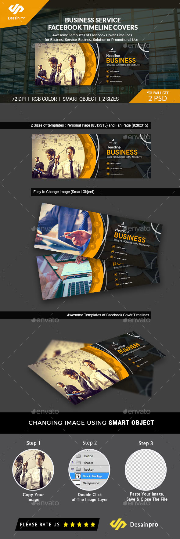GraphicRiver Business Services FB Cover Timeline AR 21156818