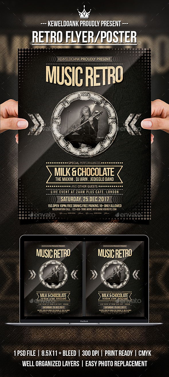 GraphicRiver Retro Flyer Poster 21157113