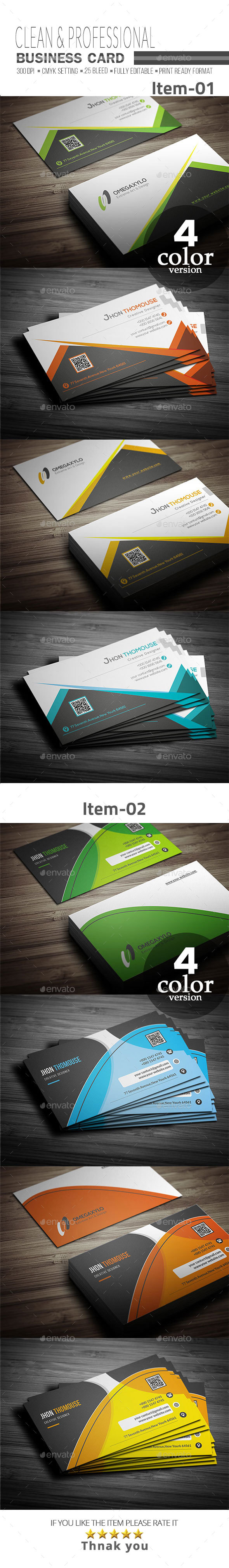 GraphicRiver Business Card Bundle 2 In 1 21157116
