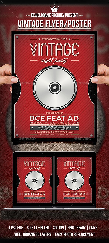 Vintage Flyer / Poster - Events Flyers