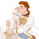 Cinderella and Prince Riding a Horse after Wedding - GraphicRiver Item for Sale