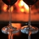 Two Glasses of Red Wine Near a Fireplace - VideoHive Item for Sale
