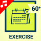 Sport Exercise Health Fitness Gym Icon Set - Line Animated Icons