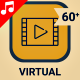 Virtual Reality VR Video Technology Icon Set - Line Animated Icons