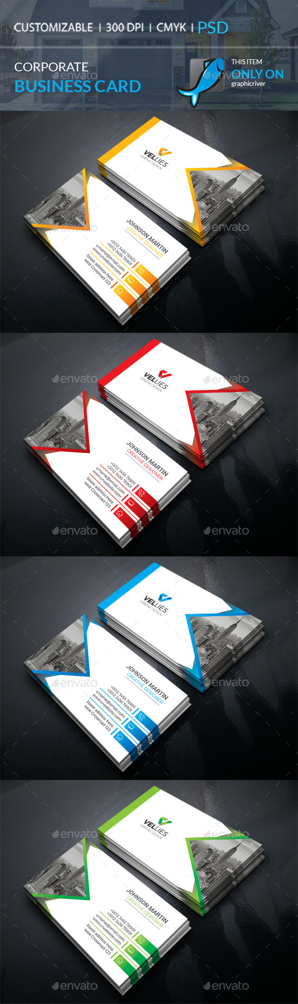 GraphicRiver Corporate Business Card 21152650