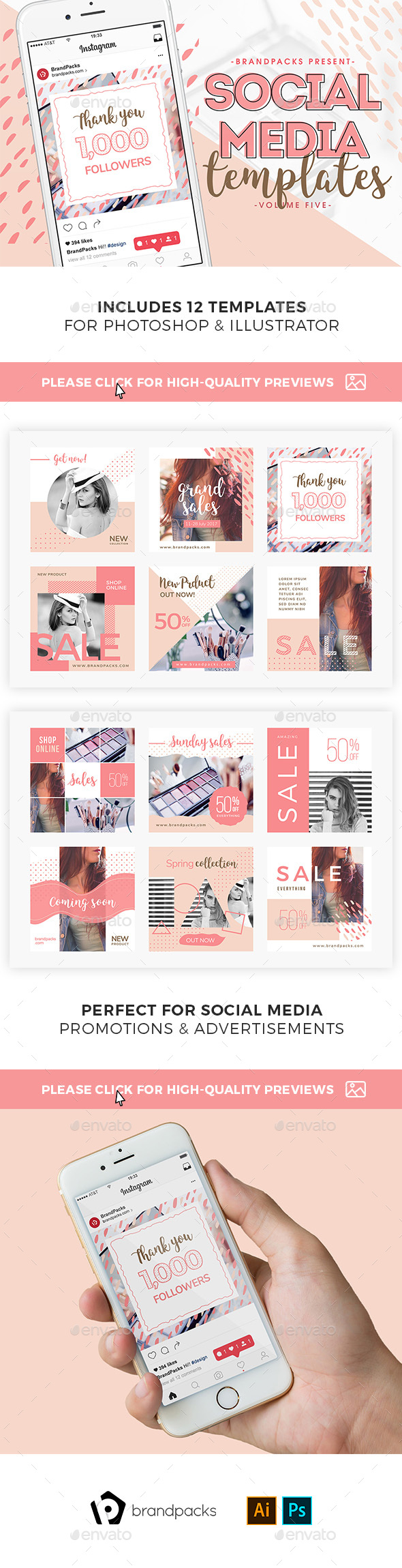 GraphicRiver Instagram Templates Pack 21157306