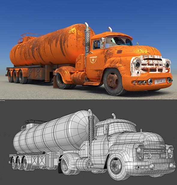 3DOcean The fuel truck 21157321