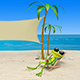 3D Animation of a Frog in a Deckchair on the Beach - VideoHive Item for Sale