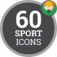 Healthy Lifestyle Fitness Sport Icon Set - Flat Animated Icons