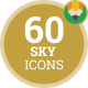 Icons Pack Sun Sky Nature Climate Flat Animated Icons
