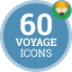 Icons Pack Tour Voyage Expedition Flat Animated Icons