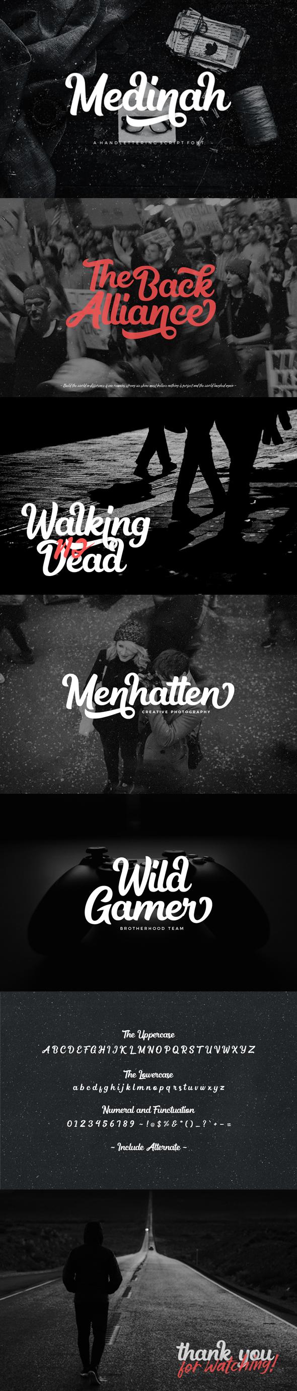 Medinah - Script Fonts