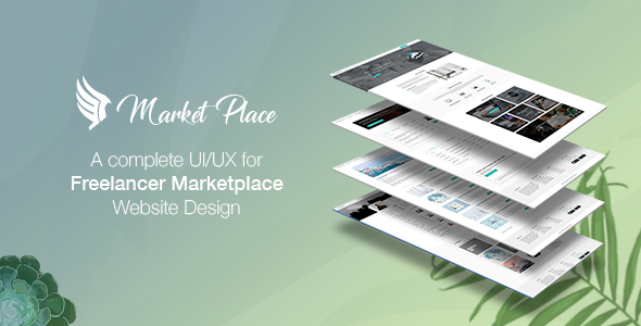 ThemeForest Yes Market Place Freelance Marketplace PSD Template 20991531