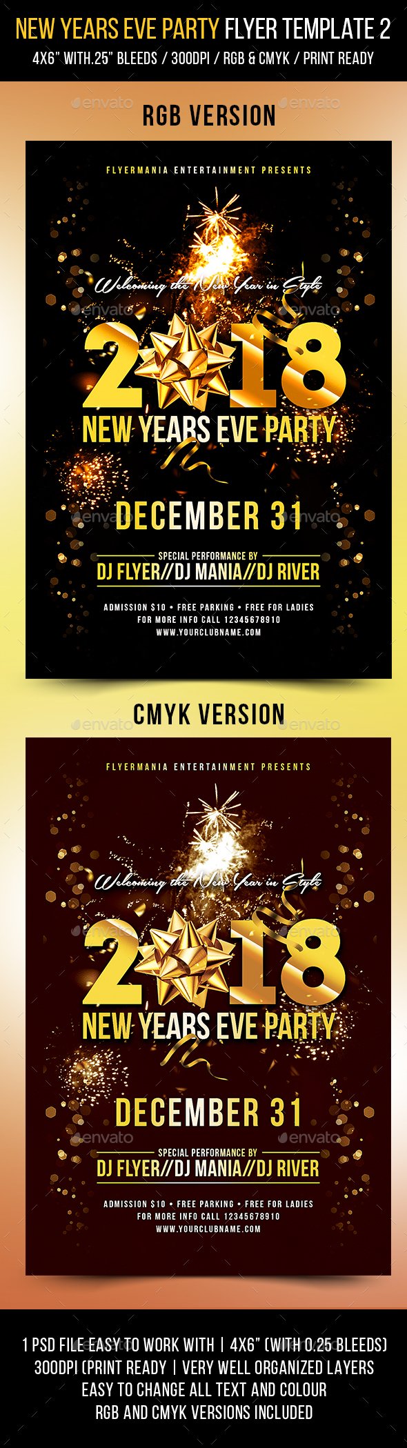 GraphicRiver New Years Eve Party Flyer Template 2 21157828