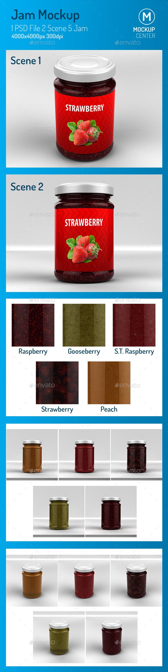 GraphicRiver Jam Mockup 21157901