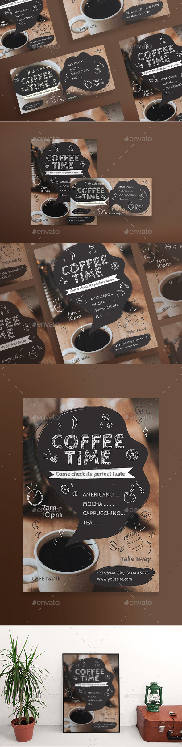 GraphicRiver Coffee Time Flyers 21157919