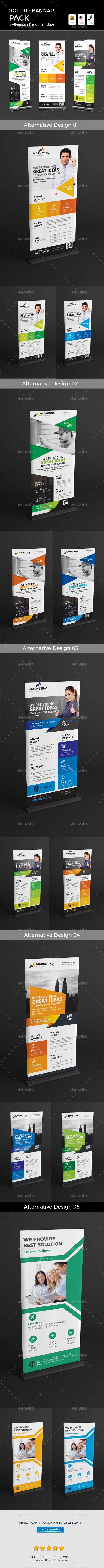 GraphicRiver Roll-Up 5 Alternative Design Template 21158103