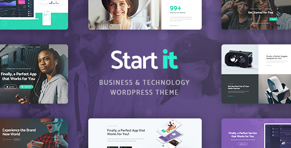 ThemeForest Start It Technology & Startup WP Theme 21098398