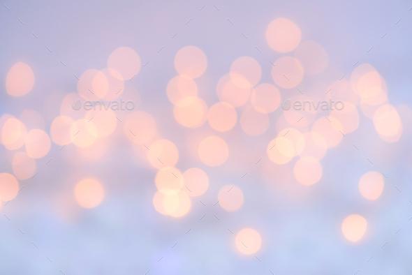Circular reflections of Christmas lights. Christmas festive back - Stock Photo - Images