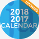 Calendar 2018 and 2017 PowerPoint Presentation Template