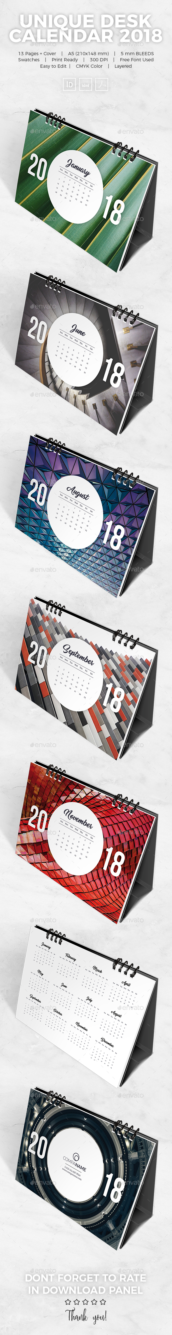 GraphicRiver Unique Desk Calendar 2018 21158306
